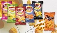 5 Lays au choix + GRATIS 1 DORITOS Nacho Cheese 20x44g