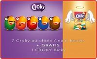 4 x Croky au choix + GRATIS 1 Croky Nacho Cheese